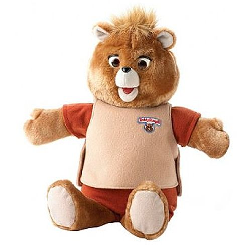 teddy ruxpin - i didn't have one of these, but my little cousin did. once, it started talking by itself in the middle of the night. and that was the end of teddy.