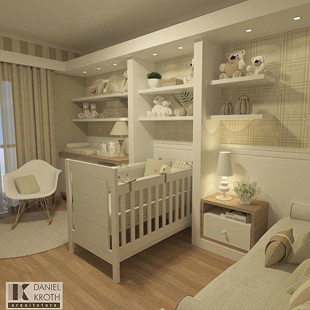 Um quartinho de bebe bem neutro .. Então esse seria uma ideia  de como montar um quarto para ambos os sexos.