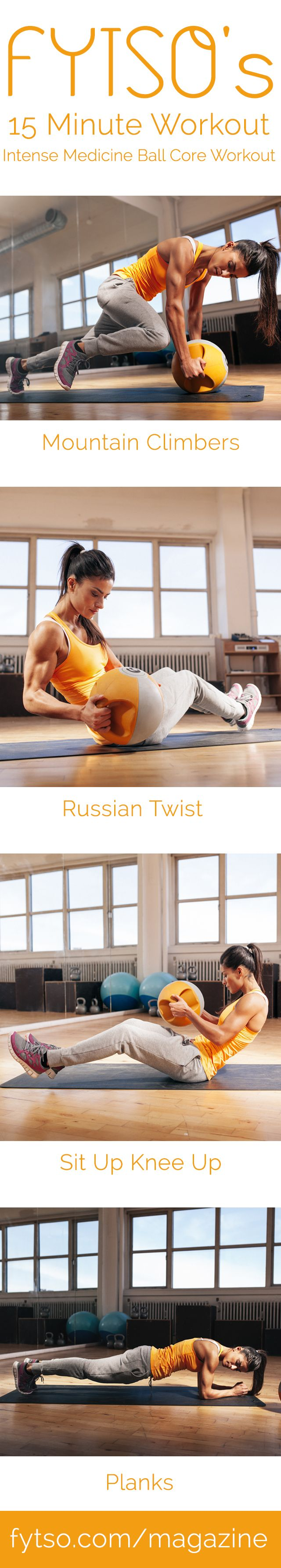 15 Minute Workout – Intense Medicine Ball Core Workout