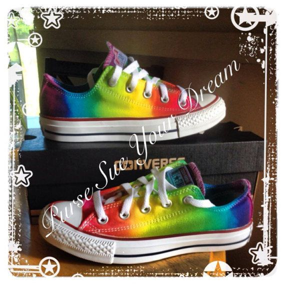 Custom Tie Dye Converse  Made To Order  by PurseSueYourDream    tie dye, tie dye converse, converse all star, rainbow converse, rainbow birthday, rainbow shoes, tie dye shoes, tie sye shoe, toms shoes, hand dyed, toddler tie dye, infant tie dye, custom shoes