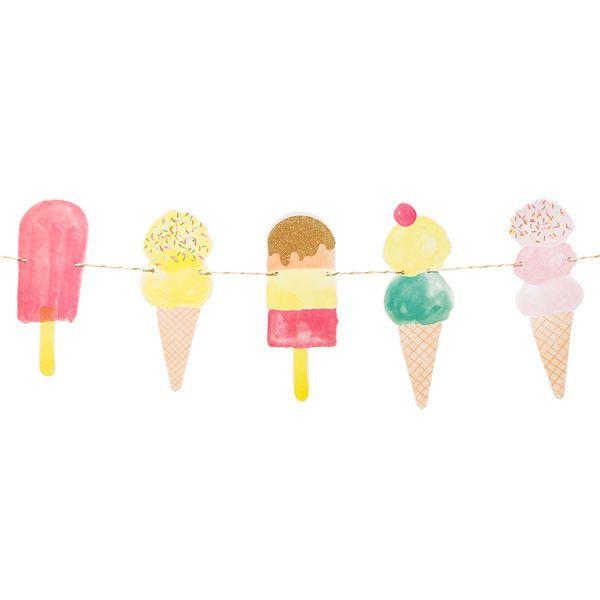 Guirnalda helados - La Fiesta de Olivia - 1