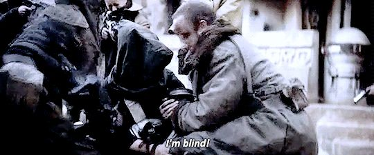 When you're already blind and someone still puts a bag over your head.