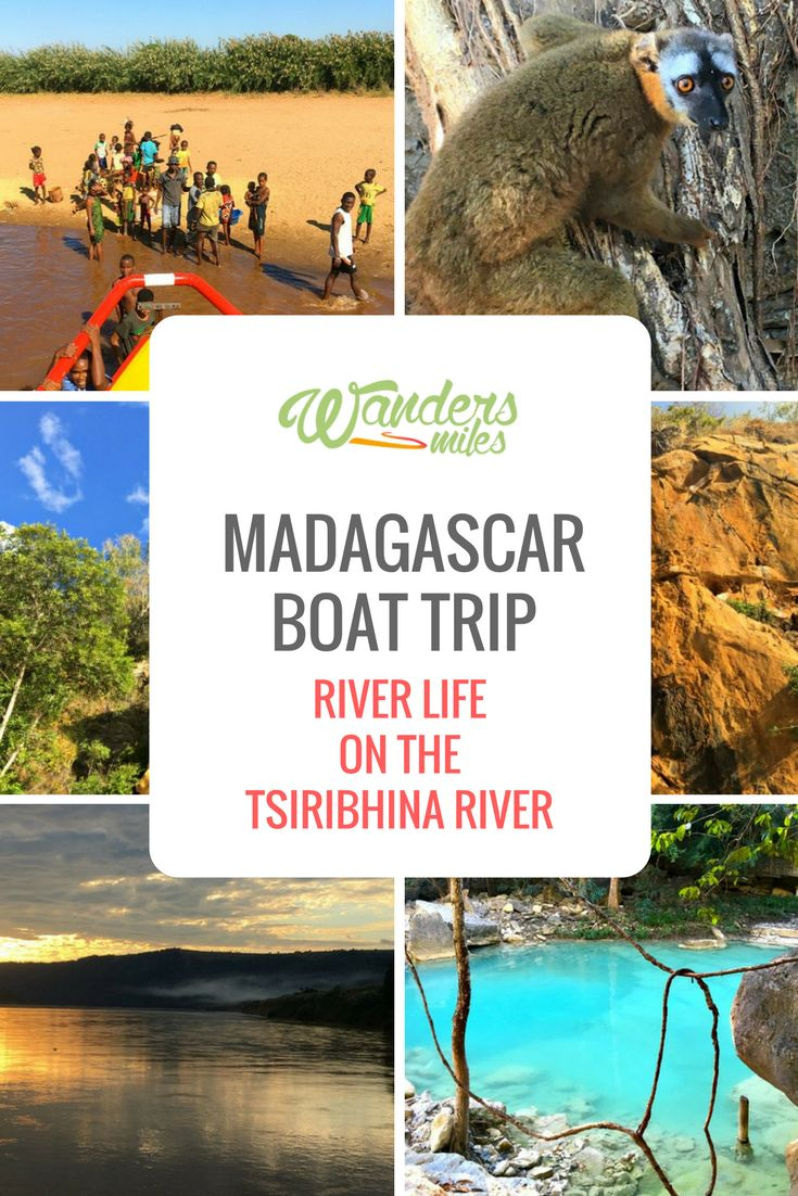 Explore Tsiribhina River in Madagascar by boat. Discover waterfalls, lemurs, local villages, bat caves whilst relaxing and enjoying the beautiful scenery.