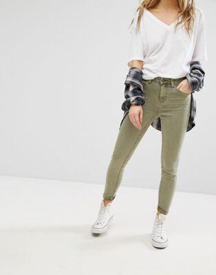 New Look - Jean skinny - Kaki