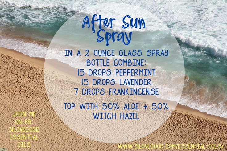 dōTERRA After Sun Spray | Natural Sunburn Remedy | essential oils | 31lovegood