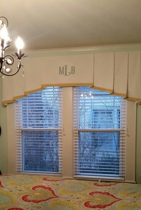 custom monogram window treatment by design for the home