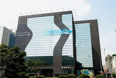 Nike funny ads in building