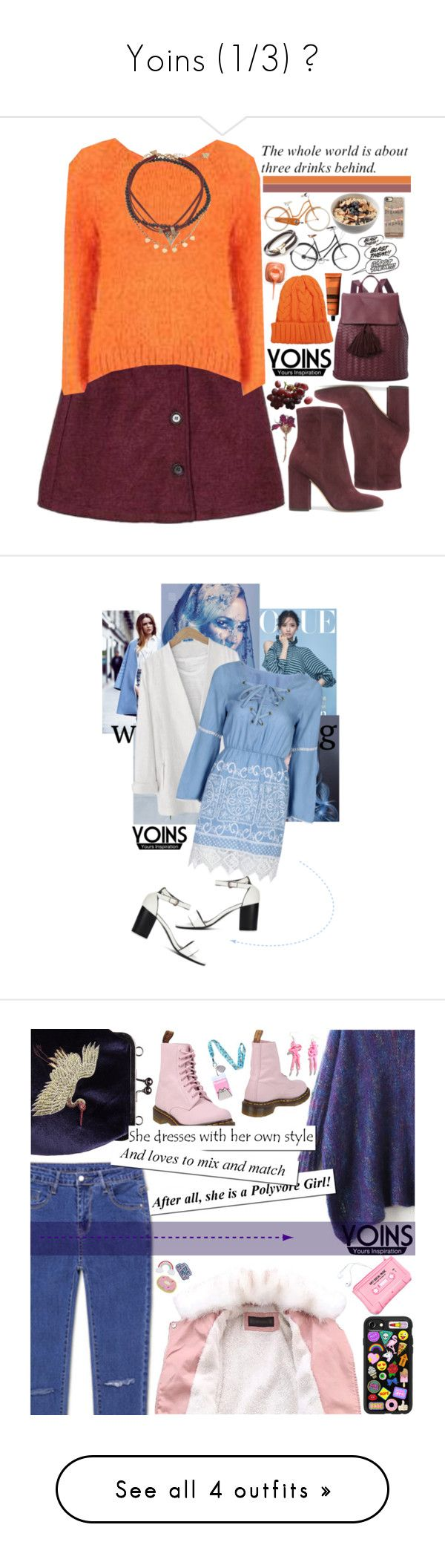 """""""Yoins (1/3) ♥"""" by av-anul ❤ liked on Polyvore featuring Deux Lux, Gianvito Rossi, GUESS, Aesop, Simons, Casetify, WithChic, Dr. Martens, Lazy Oaf and Pusheen"""