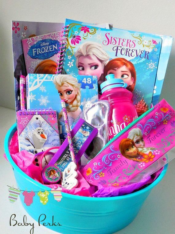 Frozen Gift basket  Frozen birthday party frozen by MsPerks, $49.99