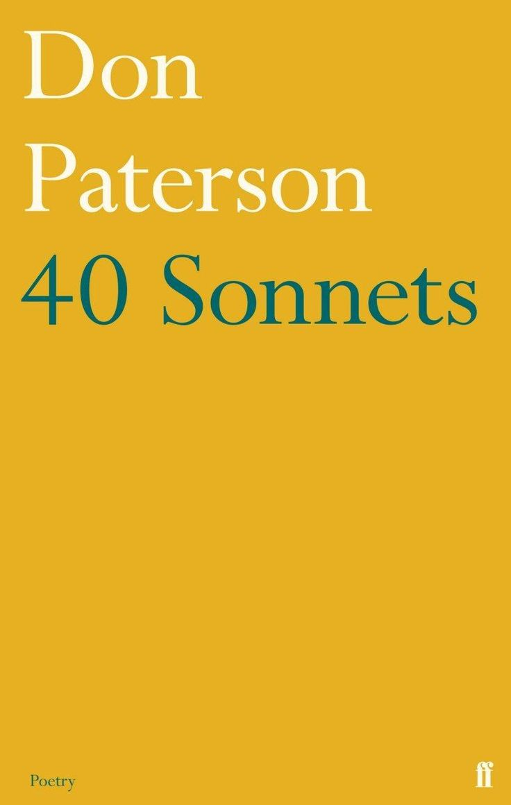 Griffin Poetry Prize 2016 International Shortlist - 40 Sonnets, by Don Paterson