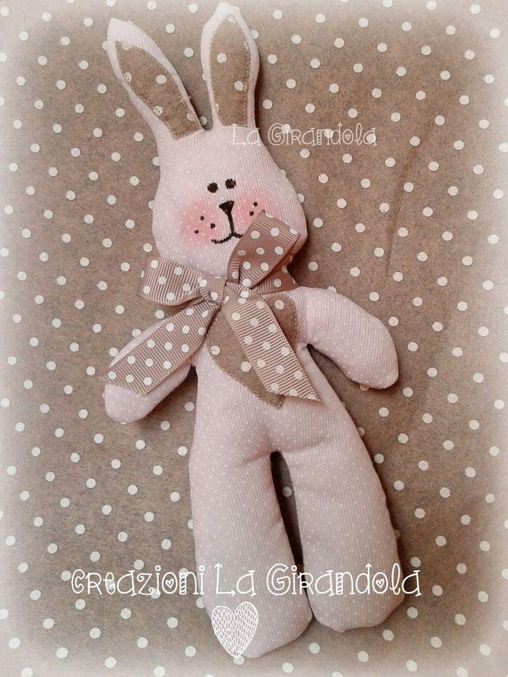 La Girandola delle idee: Coniglietto in tessuto a pois