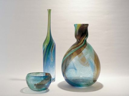 Bengt Orup: Johansfors, 1967; Dish and vases from the 'Spontaneous' series