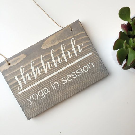Reversible Yoga in Session Sign Storefront by AllyBethDesignCo