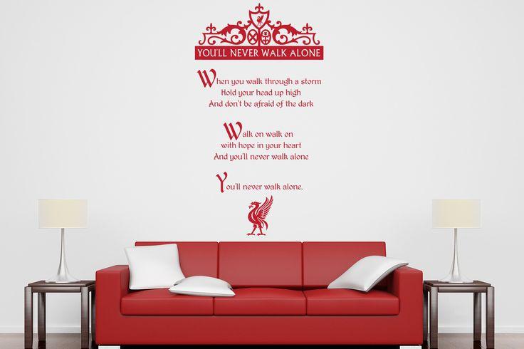 lyrics to the liverpool football club song never walk liverpool skyline vinyl wall sticker