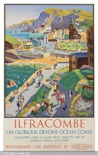 DEVON - Ilfracombe travel poster, Adrian Paul ALLINSON - England