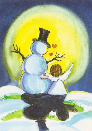 cute snowman | Snowman and Me by floquilter, via Flickr | 3rd grade art