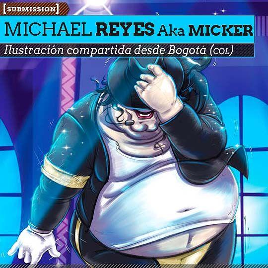 Ilustración. Fat Jackson de MICHAEL REYES Aka MickeR. Ilustración compartida desde Bogotá (COLOMBIA).  Leer más: http://www.colectivobicicleta.com/2013/05/Ilustracion-de-MICHAEL-REYES-Aka-MickeR.html#ixzz2Si205E6i