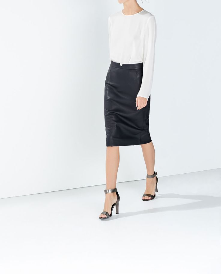 FAUX LEATHER SKIRT-Skirts-Woman-COLLECTION SS15   ZARA United States