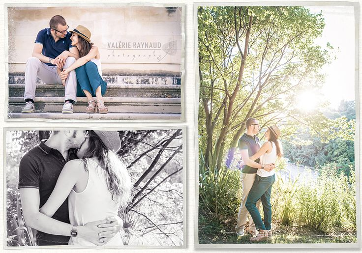 Valerie Raynaud Photography Séance photo Engagement couple nimes jardins de la fontaine mariage gard hérault montpellier
