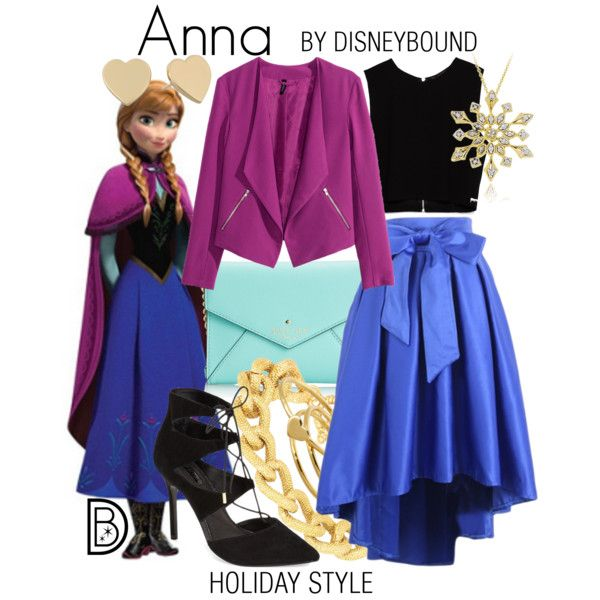 Anna by leslieakay on Polyvore featuring Zara, H&M, Topshop, Kate Spade, Gorjana, Adele Marie, DB Designs, disney, disneybound and disneycharacter