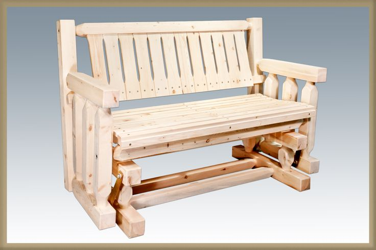 Montana Woodworks Homestead Collection Outdoor Glider, Clear Exterior Finish