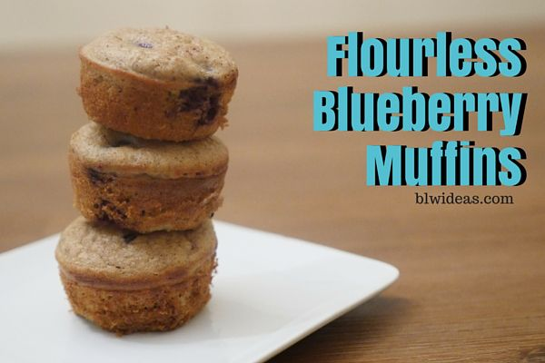 Flourless Blueberry Muffins, from blwideas.com Baby-Friendly, 6 months and up