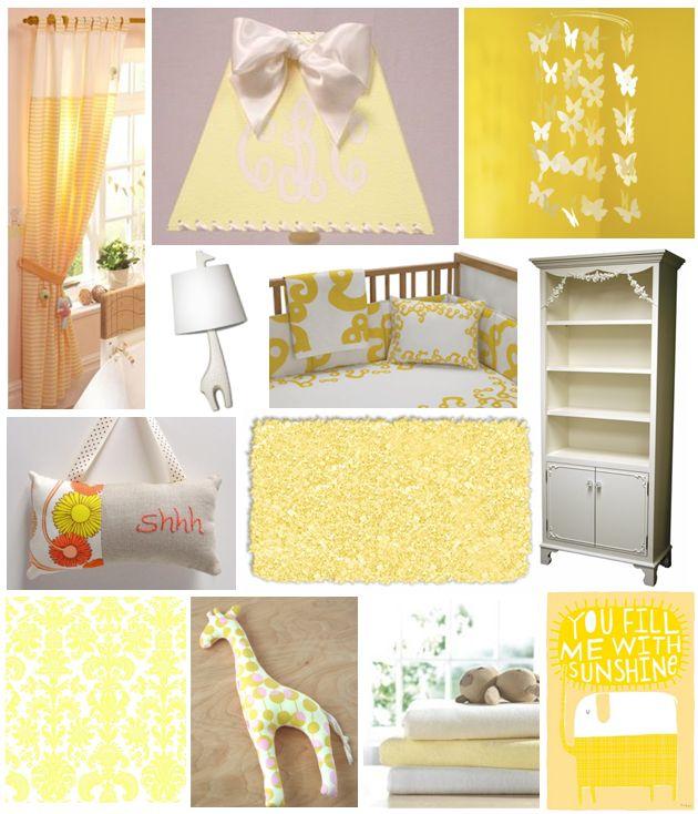 yellow baby decor