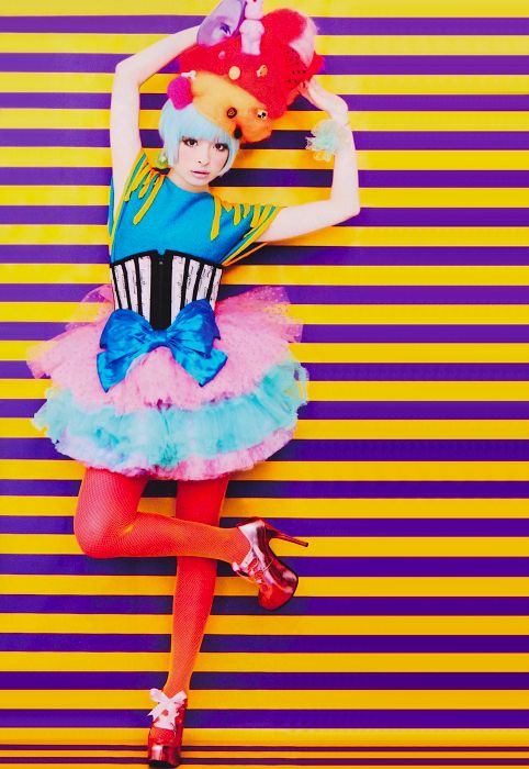 Kyary Pamyu Pamyu~~♥♪♫ Japanese music & fashion icon--!☆★☆ kawaii fashion. . .tutus. . .corset. . .hats