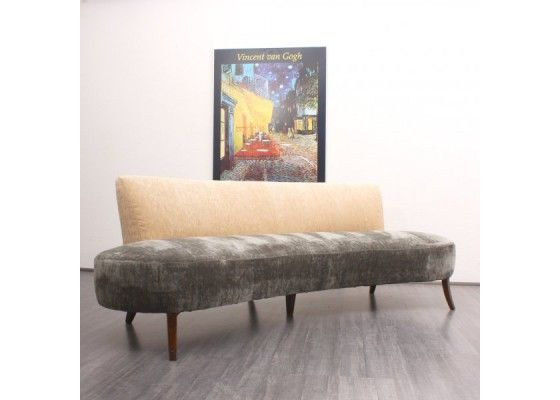 vintage kidney shaped sofa 1950s 5 sofa pinterest vintage sofa vintage and sofas. Black Bedroom Furniture Sets. Home Design Ideas