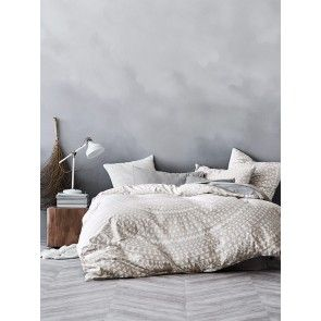 AURA Inca Duvet Cover Set - Marshmallow