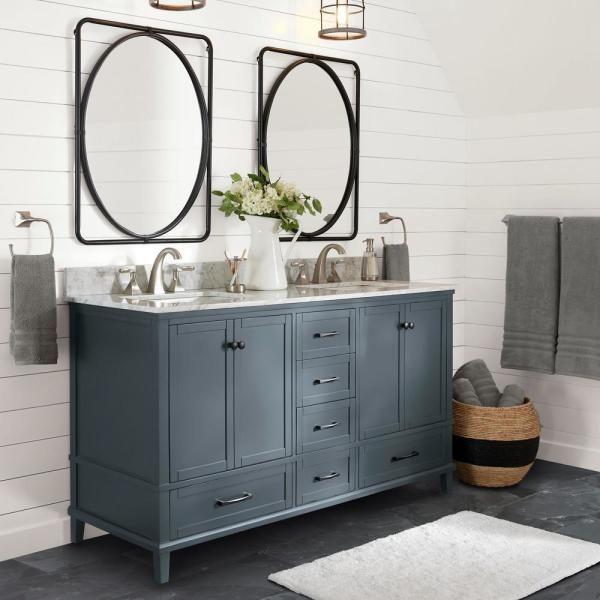 19++ Blue grey bathroom vanity model