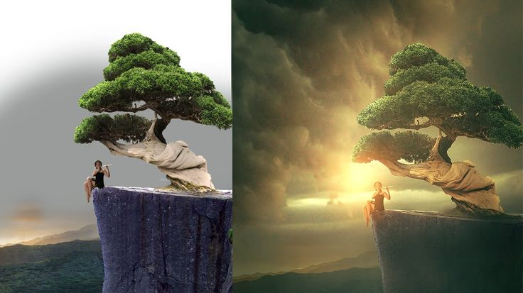Photoshop Tutorial | Photo Manipulation ( Girl under tree )