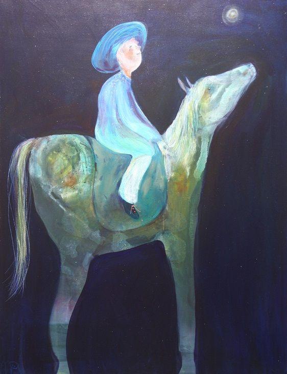 """""""een mooie rit """" acryl op doek  te zien bij Galerie de Langenhof Zwolle www.delangenhof.nl"""