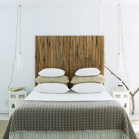 Here's a wonderful quick and easy way to add a decorative bamboo headboard and…