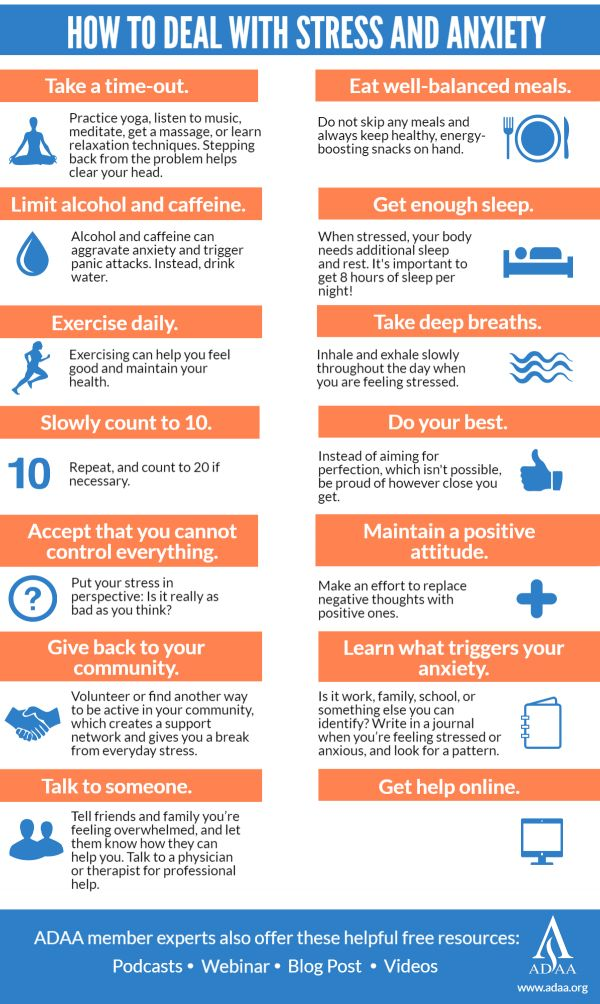 Tips to Manage Anxiety and Stress | Anxiety and Depression Association of America, ADAA