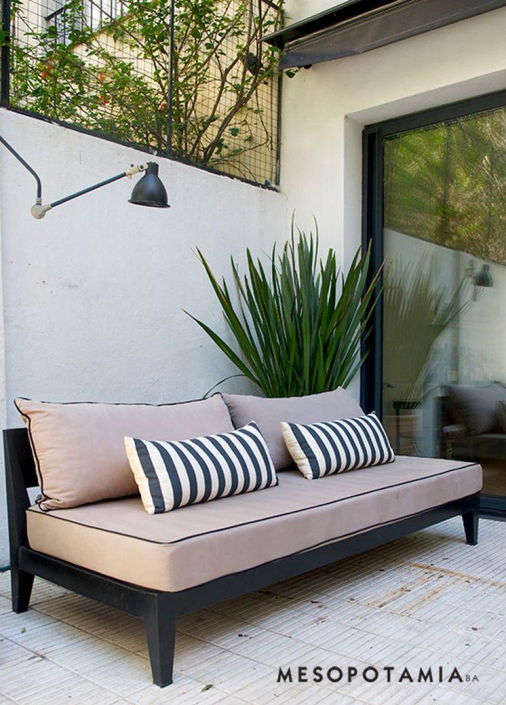 Modelo de hierro modernos mesopotamia sofa pinterest for Sofa exterior hierro
