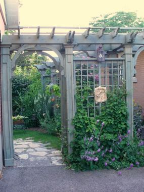 Arbour entrance to back garden.