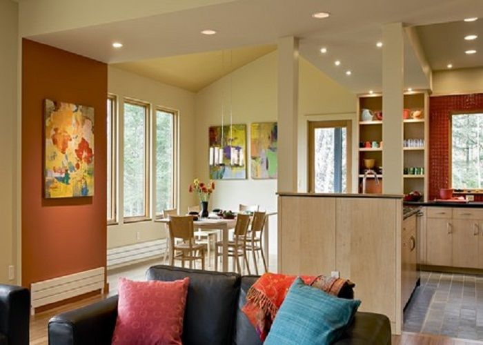 Designing Accent Wall Painting Color Ideas For Room Benjamin Moore Spiced Pumpkin