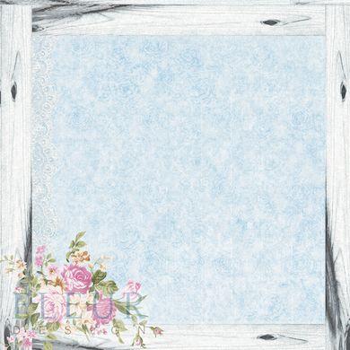 """Бумага 30х30 """"Цветочная рамка"""" Летний сад от Fleur Design купить в интернет-магазинеscrapikoff.ru"""