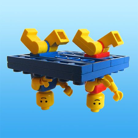 Lego synchronized swimming @Rachel Fazio, this made me think of you for some reason!! haha.