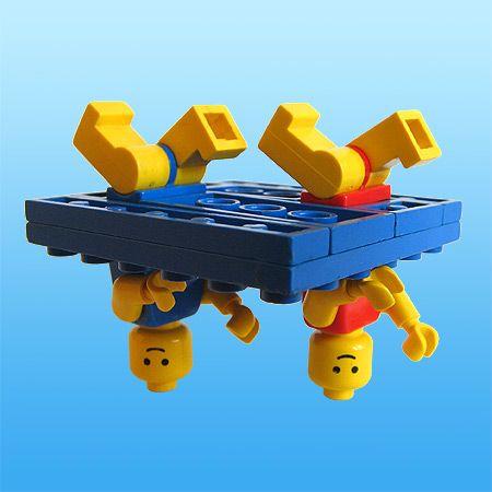 Lego synchronized swimming - love it - great imagination
