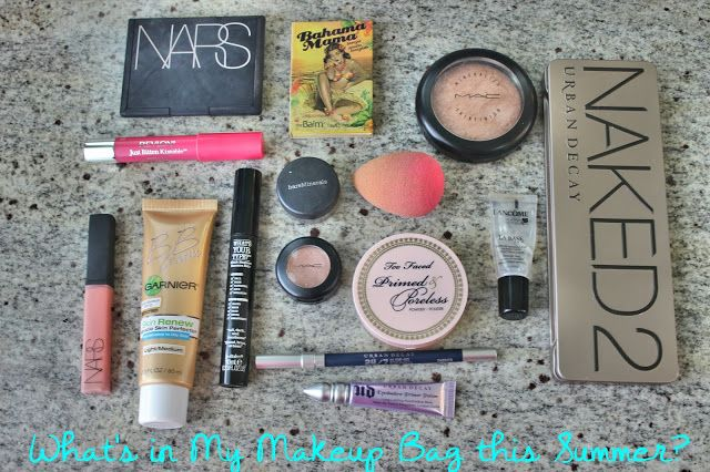 Lancome Perfecting Makeup Primer, $42 for the large size; Garnier BB Cream, $13; Beautyblender, $19; MAC Mineralized Skinfinish Highlighter, $30; NARS Foreplay Palette, $49; TheBalm Bahama Mama, $20; Too Face Primed & Poreless, $30