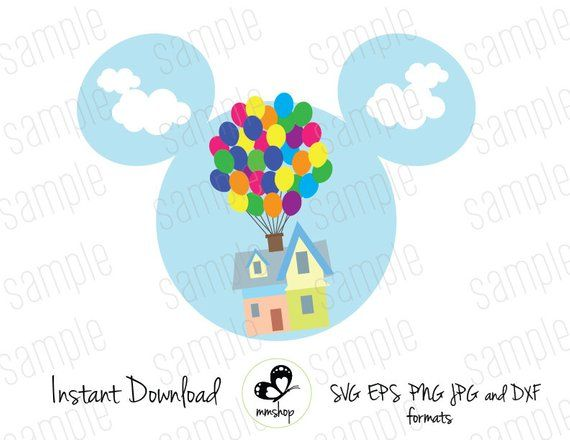 Mickey Disney Up Instant Download Svg Files Disney Up Disney Up House Disney Pixar Up