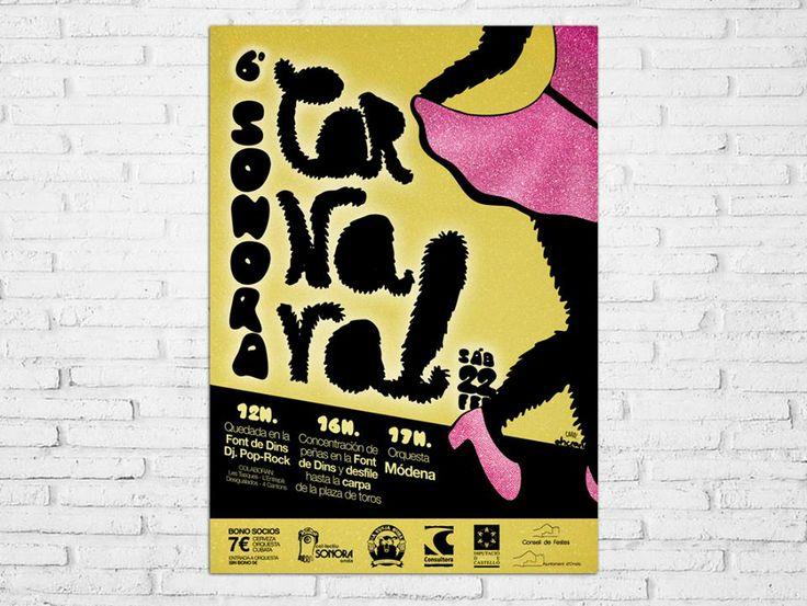Diseño del cartel para el 6º Carnaval Sonora de Onda https://www.facebook.com/ColectiuSonora?ref=ts&fref=ts
