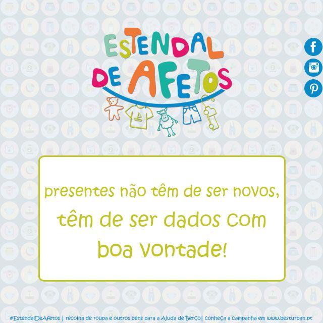 #EstendalDeAfetos #AjudaDeBerço #presentes