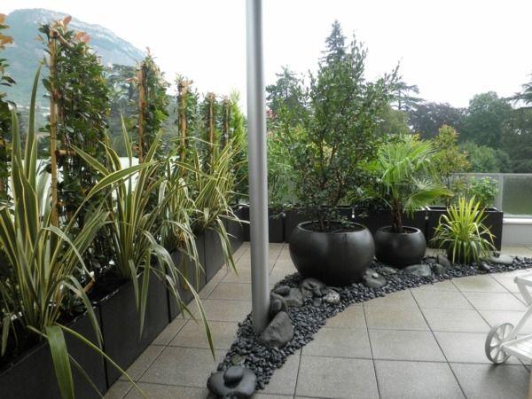 les 131 meilleures images propos de jardin min ral sur pinterest jardins planters et terrasses. Black Bedroom Furniture Sets. Home Design Ideas