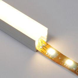 Diffuser over under-cabinet LED strip lighting