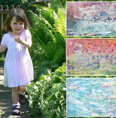 iris grace paintings   Iris Grace Halmshaw with her paintings