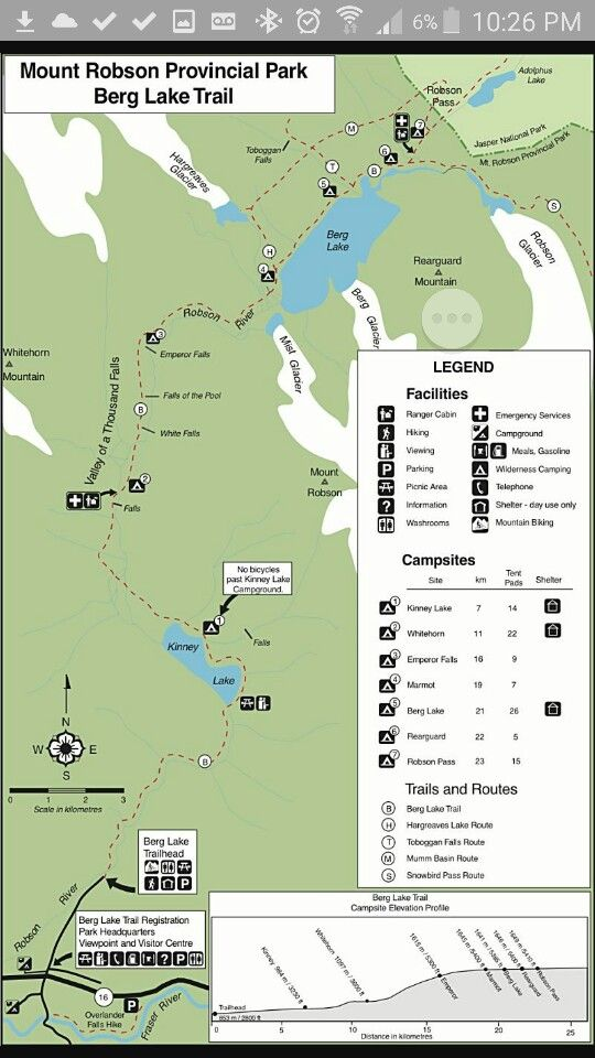Berg lake trail map