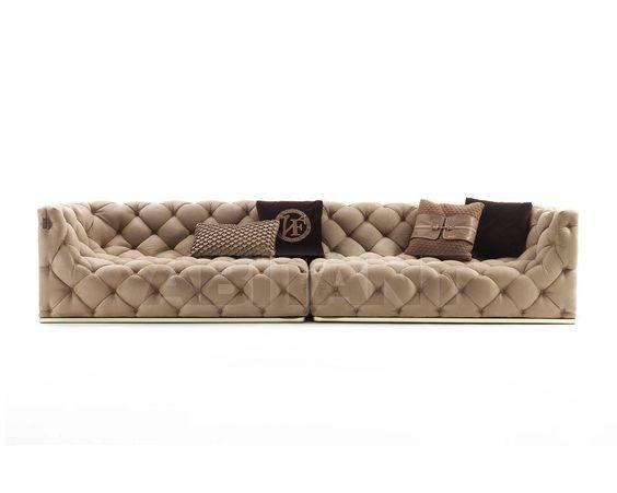 Диван Caracciolo - Vittoria Frigerio by Frigerio Poltrone e Divani - VF50006 x2 - с прямыми подлокотниками, с мягкими подлокотниками, прямоугольная, без ножек, (5) пятиместный, для гостиной, из